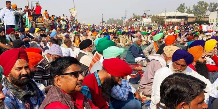 Farmers' protest in India on December 1