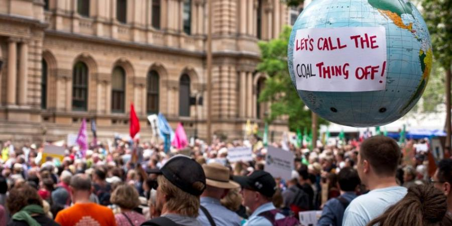 A climate action protest in Sydney on February 22. Photo: Zebedee Parkes