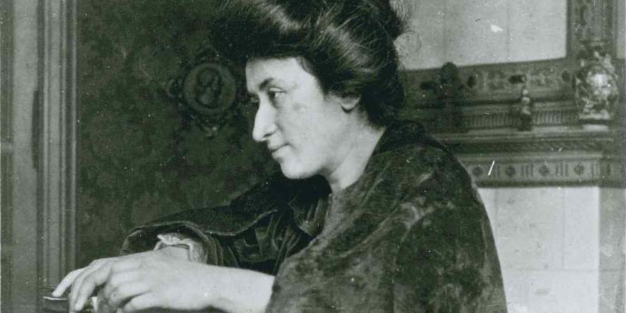 Rosa Luxemburg in her house