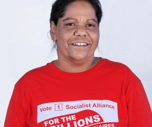 Corina Abraham, Socialist Alliance candidate for the seat of Willagee