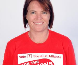 Petrina Harley, Socialist Alliance candidate for the Western Australian Legislative Council, South Metropolitan District