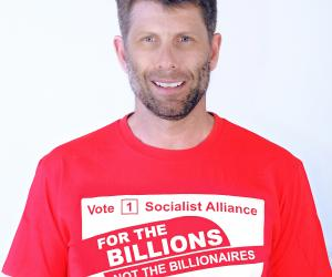 Sam Wainwright, Socialist Alliance candidate for the Western Australian Legislative Council, South Metropolitan District