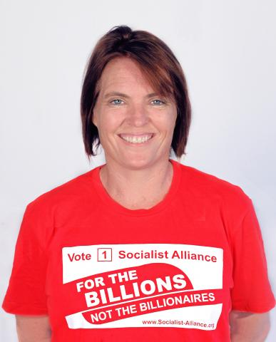 Petrina Harley, Socialist Alliance candidate for the Western Australian Legislative Council, South Metropolitan District