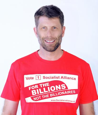 Sam Wainwright, Socialist Alliance candidate for the Western Australian Legislative Council, South Metropolitan District