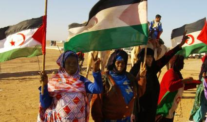 Polisario supporters in Western Sahara. Photo: Tony Iltis