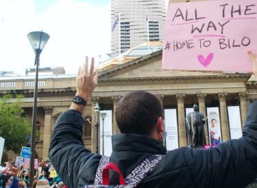 All the way #HomeToBilo, Melbourne protest June 19