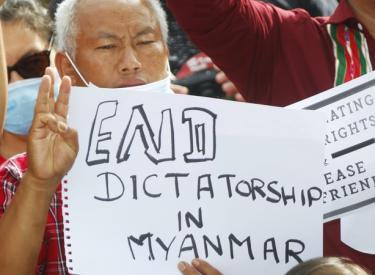 End dictatorship in Myanmar