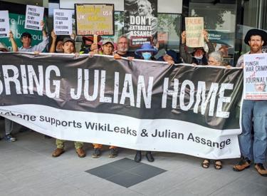 Free Julian Assange protest September 2020