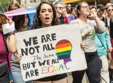 Melbourne protest against the religious discrimination laws. Photo: Mel Kulinski