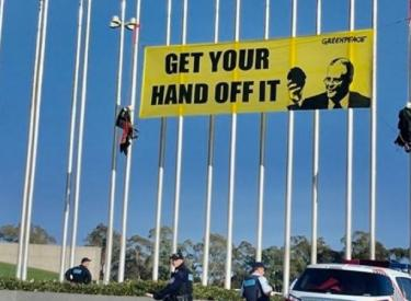 Climate protest Canberra, September 2018.